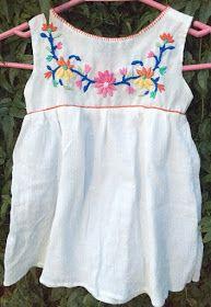 Blusa Mexicana bordada DIY - Mamy a la obra