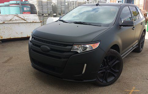 Ford Edge black grill Plasti dip