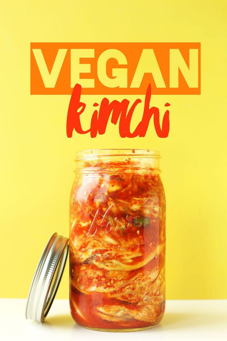 EASY 10 INGREDIENT Vegan KIMCHI! Crunchy, spicy, tangy, DELICIOUS! #vegan #glutenfree #recipe #kimchi