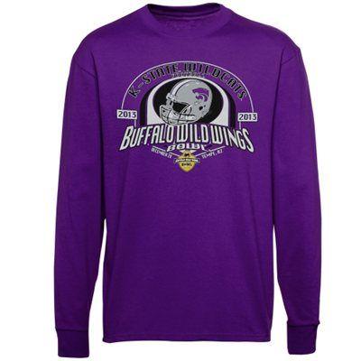 Kansas State Wildcats 2013 Buffalo Wild Wings Bowl Bound Long Sleeve T-Shirt - Purple