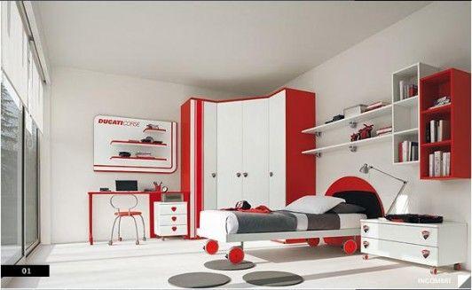 #red #color #colombini #cameretta