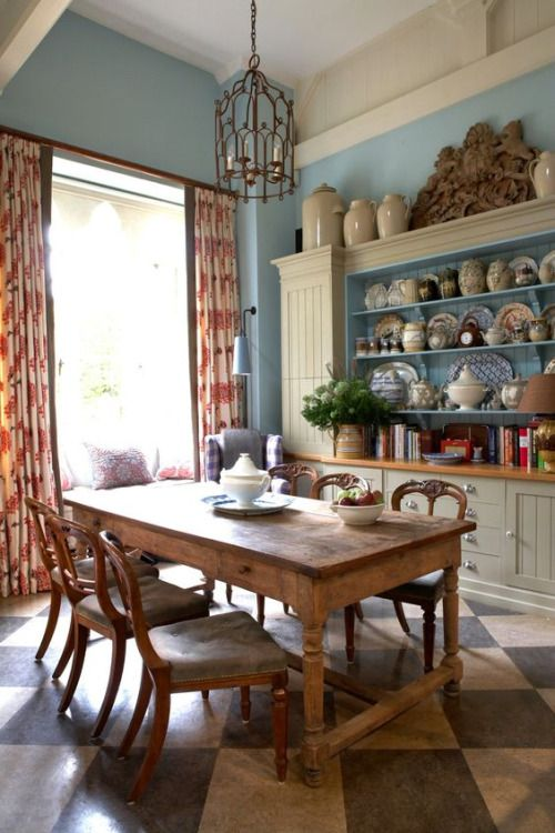 English country dining room.