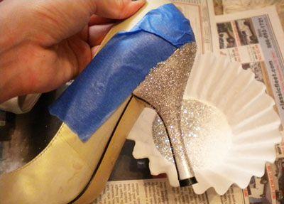 Как сделать туфли с блестками