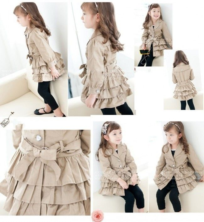 RUFFLED TAN COAT WITH JEWELED BUTTONS · A Pocket Full Of Sunshine · Online Store Powered by Storenvy - so cute for the girls
