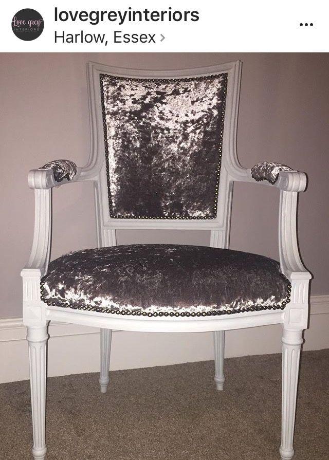 Upcycled Louis Style Armchair | Velvet Chair | #UpcycledChair