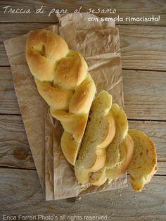 Ricetta del pane al sesamo a forma di treccia