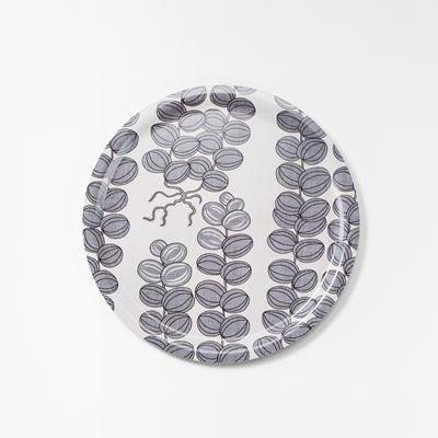 Bricka Celotocaulis - 49 cm, Celotocaulis, Rund, Grå, Josef Frank/Svenskt Tenn | Svenskt Tenn