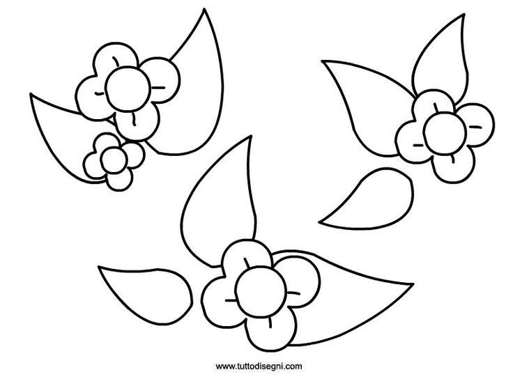 Disegni fiori da colorare cerca con google idee dal for Fiori grandi da colorare