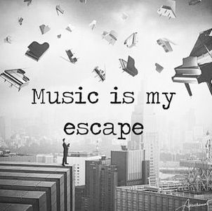 I can't live without music.