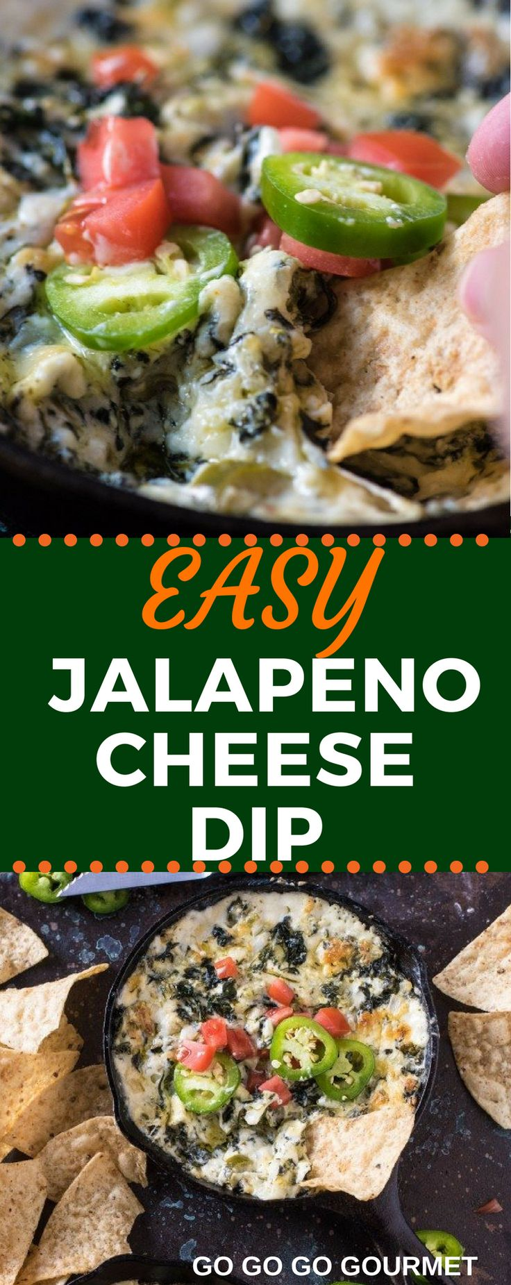 This Easy Spicy Jalapeno Spinach Dip recipe is baked right in the oven to make the perfect Super Bowl snack! You could even add bacon to kick it up a notch! #superbowl #superbowlfood #cheesedip #spinachdipg