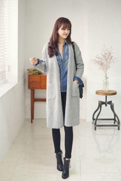 mn)カラフルロングカーディガン(5色) - 韓国ファッション通販 coco-closetココクローゼット