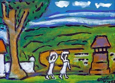 """Rural scene"" by Arie smit, Size: 28cm x 38cm, Medium: Oil on canvas, Year: 2003"