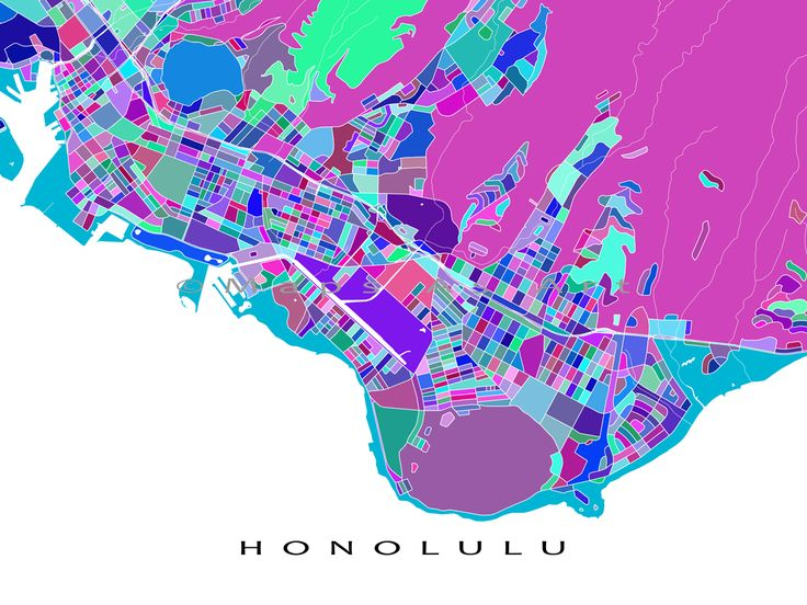 77 best Hawaii Map Prints images on Pinterest  Hawaii usa