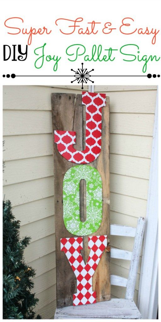 Fast and Easy DIY Joy Pallet Sign