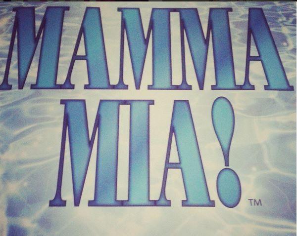 Mamma Mia theatre program from Teatr Roma in Warsaw, Mamma Mia the musical