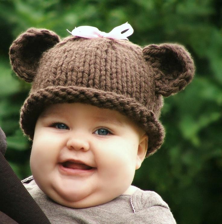 KNITTING PATTERN-Baby Bear Hat (Baby,Toddler,Child sizes) Knitting patterns...
