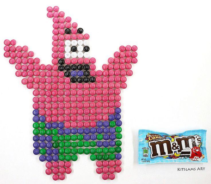 https://flic.kr/p/WeFvS8 | Patrick M&M Mosaic | It's my M&M Mosaic of Patrick of SpongeBob SquarePants.   Watch the Video: https://www.youtube.com/watch?v=I17nyIFyCvY