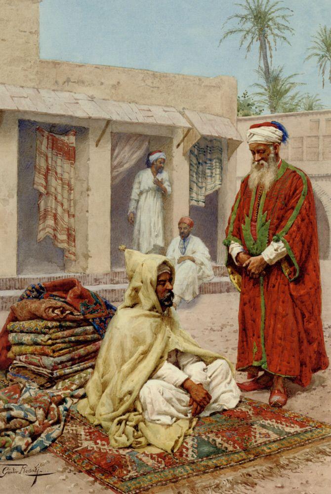 Giulio Rosati (Rome 1857 – Rome 1917) was an Italian painter specialized in orientalist and academic scenes. Oldefar.