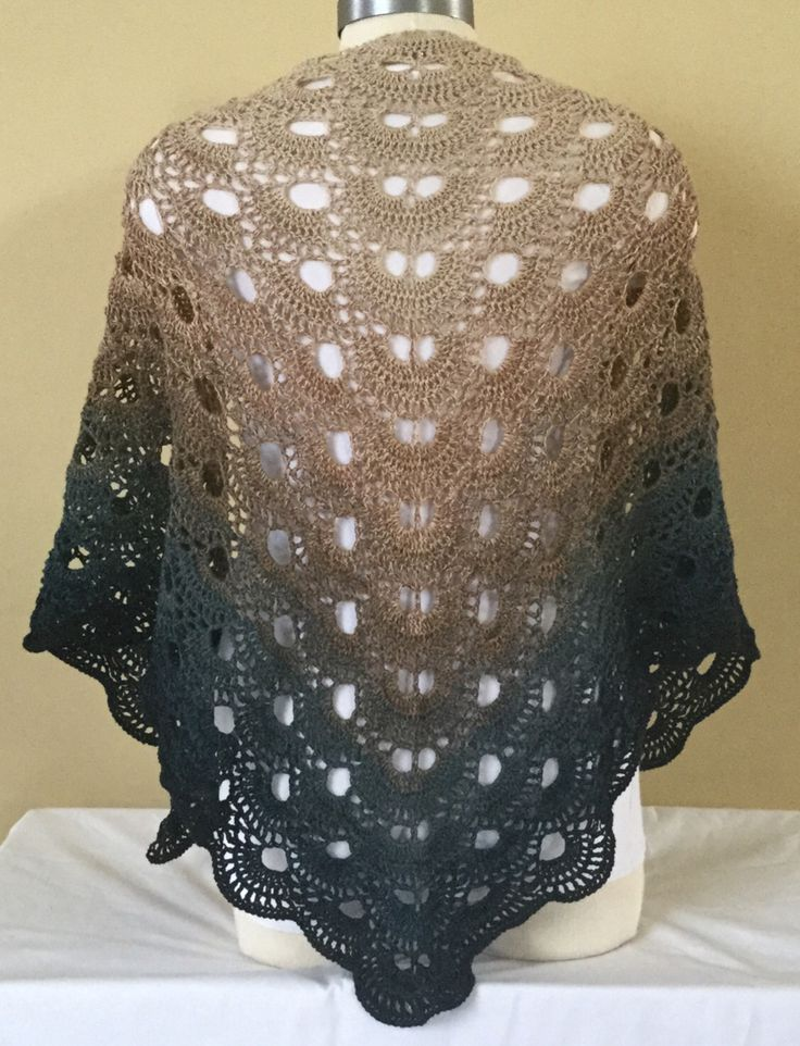 Free Crochet Pattern For A Virus Shawl : Virus shawl with wolltraum yarn Dog and bunny designs ...