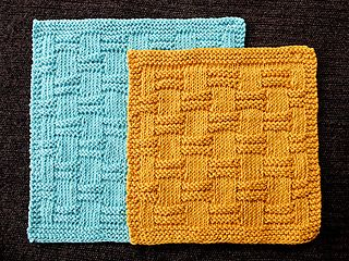 Hand knitted dishcloth pattern. Simple and symmetrical.