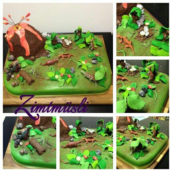 Dinosauer Cake / Dino Torte / Kuchen  www.zimtmuesli.ch