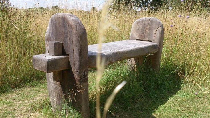 Green Oak Memorial Benches | Rustic Carpentry