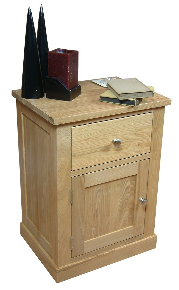 mobel solid oak reversible. Mobel Oak Single Door And Drawer Lamp Table Solid Reversible B