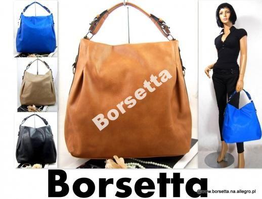 TOREBKA damska 5kolorów brąz black blue worek cc78 www.borsetta24.pl