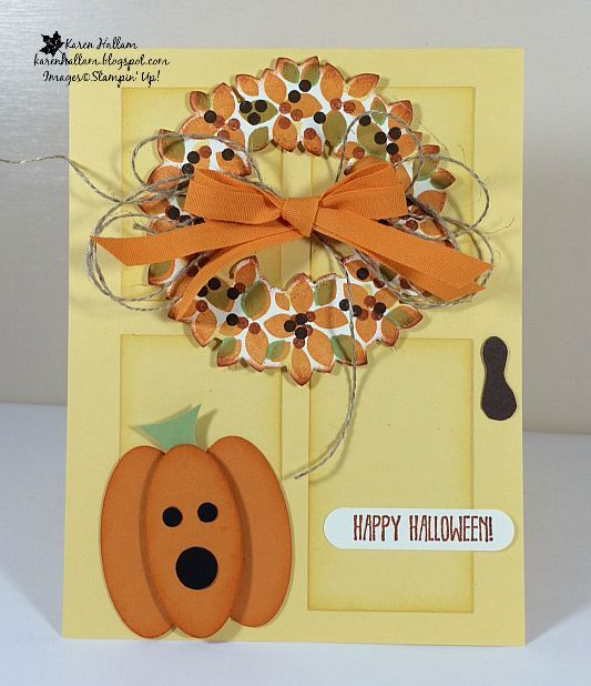 Decorating Ideas > Karens Stampin Habit! My Halloween Door For Pals Oct  ~ 151936_Halloween Door Greetings