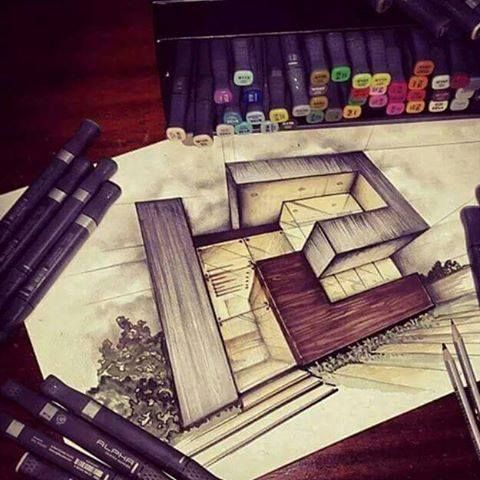 #Architecture #Arquitectura #Beautiful #Drawing