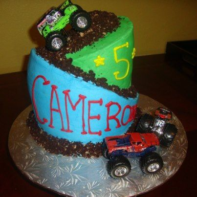 Monster Truck Cupcakes For Boys Monster Truck Cake