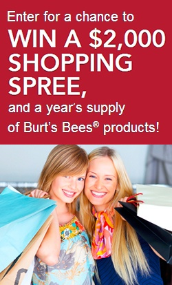 Win a $2,000 Shopping Spree from Burt's Bees