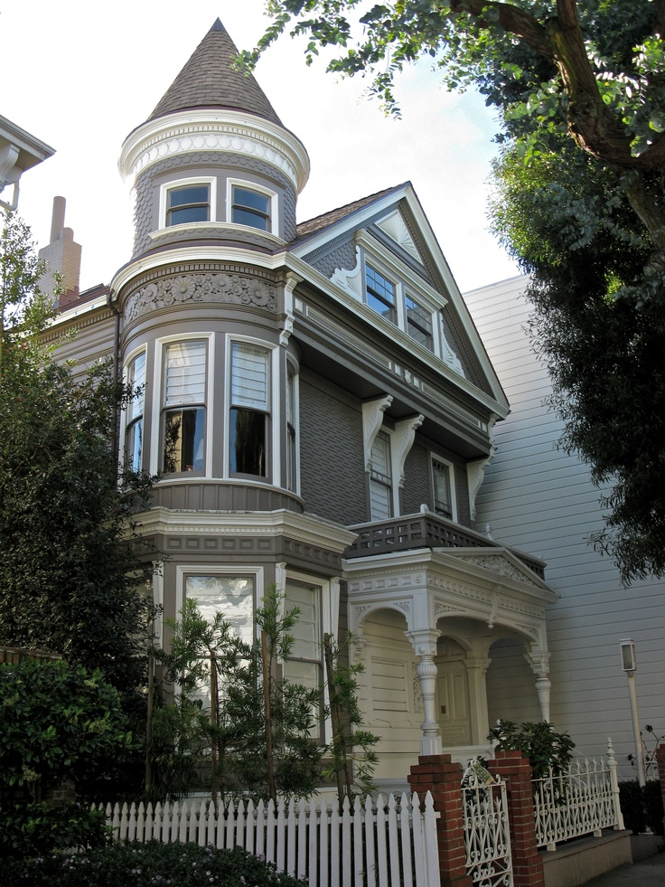 15 best images about grey exterior white trim on pinterest for Queen anne victorian house