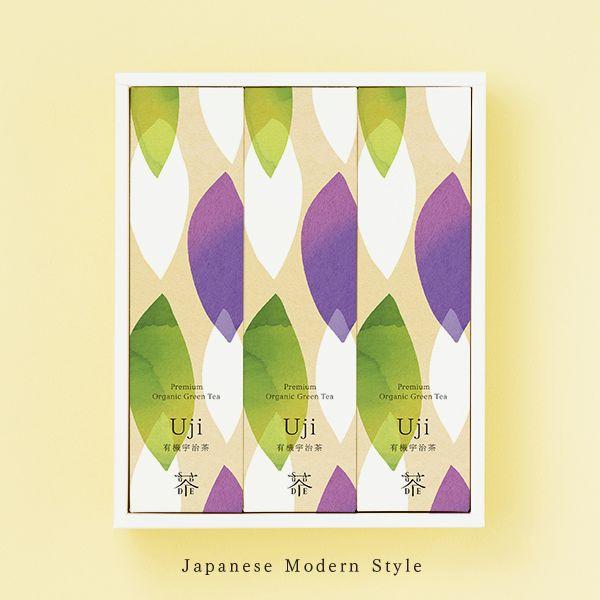 "Premium organic tea ""A Tour of Uji Kyoto"" Uji Matcha (20g) Uji Sencha (50g) Uji Houjicha (30g) SAUDADE TEA"
