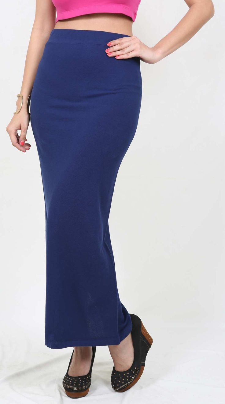 De Moza Ladies Long Skirt Viscose Lycra Navy Blue  #longshrug #ss17 #womensfashion #deals #legging #discount #freeshipping #pants #fashionblogger #harem