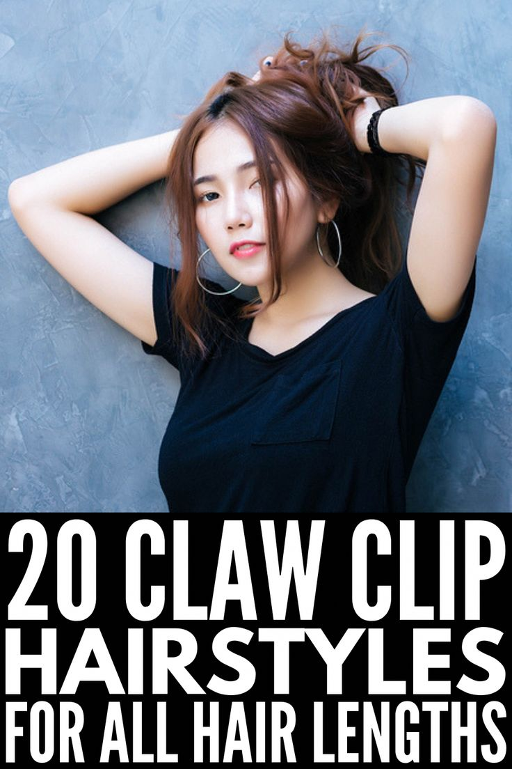 20 claw clip hairstyles for all hair lengths is it the