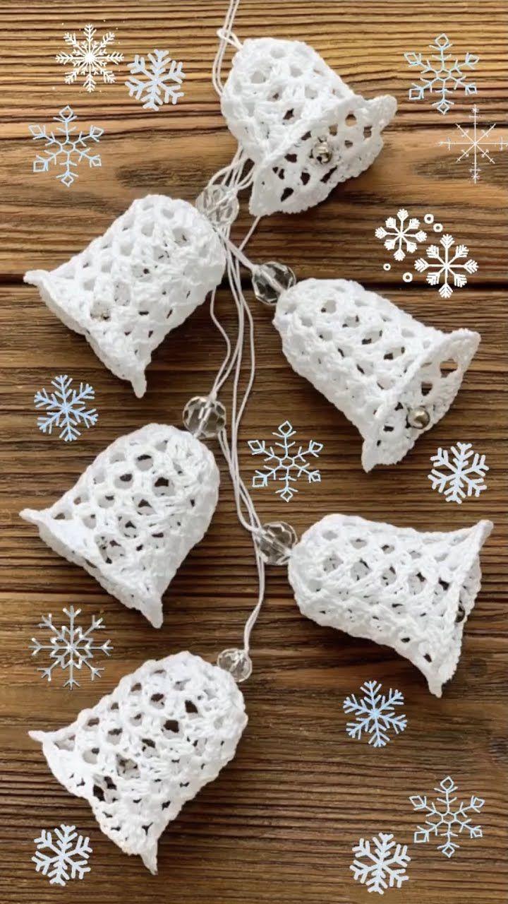 Jingle Bell Crochet Tutorial For Christmas Crochet Ornaments Free Pattern Wire Crochet Jewelry Crochet Tutorial