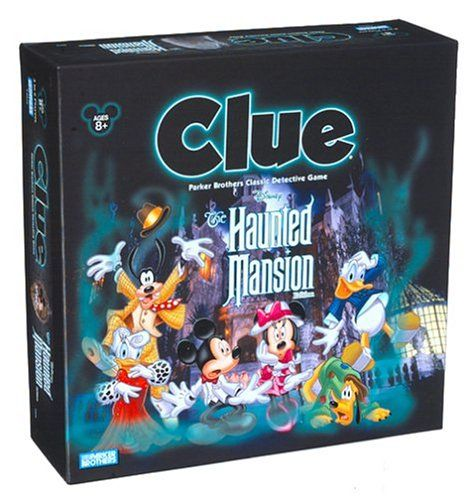 From the best family Halloween games, Disney's Haunted Mansion version of the board game Clue.