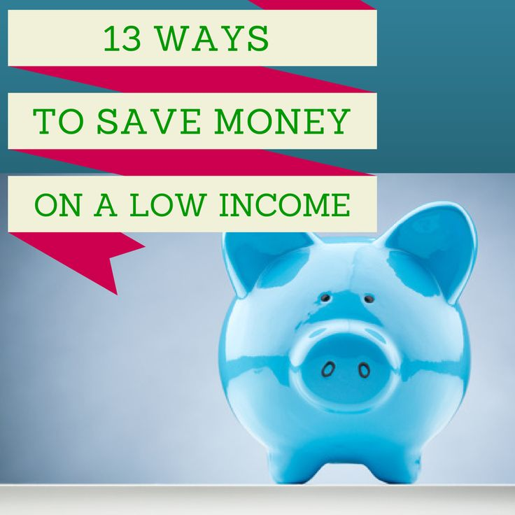 13 Ways to Save Money On A Low Income- Yes, it can be pretty hard to save money for retirement, college, and an emergency fund when you don't have a large income to work with.  But it can be done!  In today's article I'll show you 13 things you can do RIGHT NOW to start putting money in the bank, even if you have a limited income.