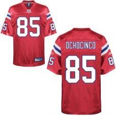 Patriots #85 Chad Ochocinco Red Alternate Stitched NFL Jersey