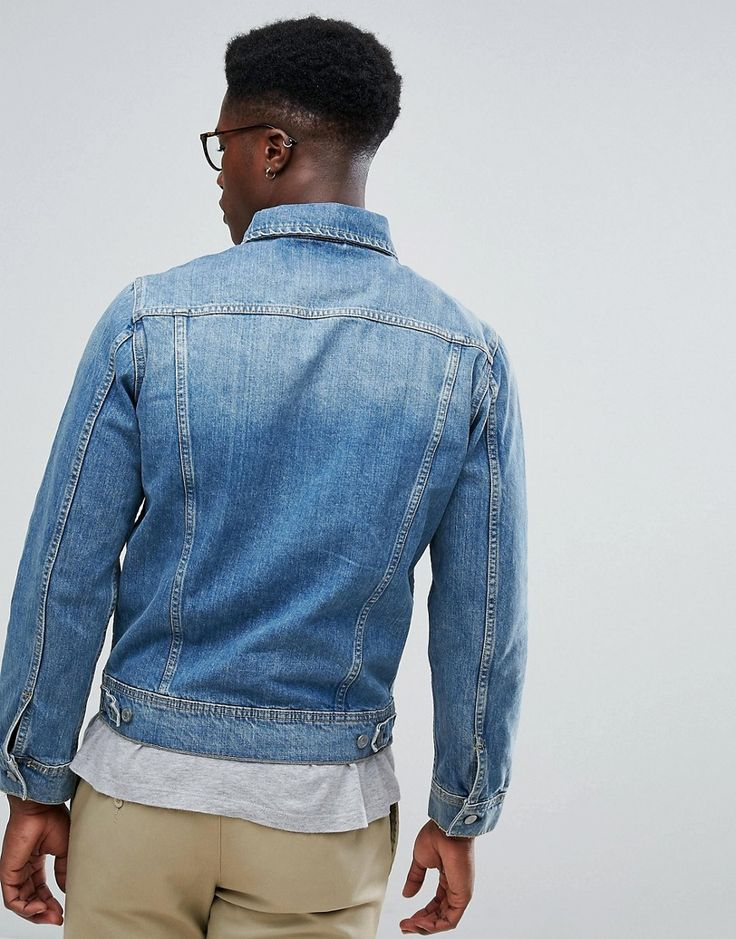 Stradivarius Denim Jacket In Mid Wash - Blue