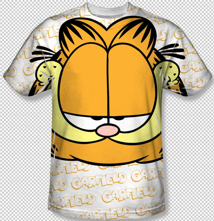 Garfield Classic Cartoon Big Face All Over Front Sublimation Youth T-shirt Top Youth Sizes: S, M, L, XL