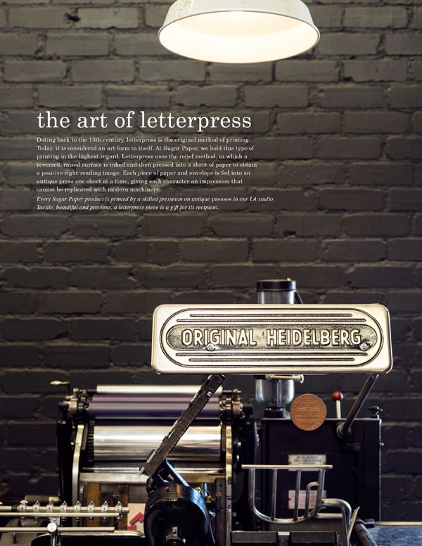 The Art of Letterpress   Sugar Paper Los Angeles
