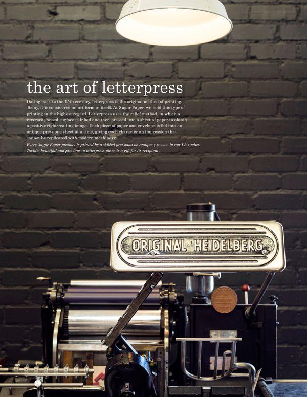 The Art of Letterpress | Sugar Paper Los Angeles