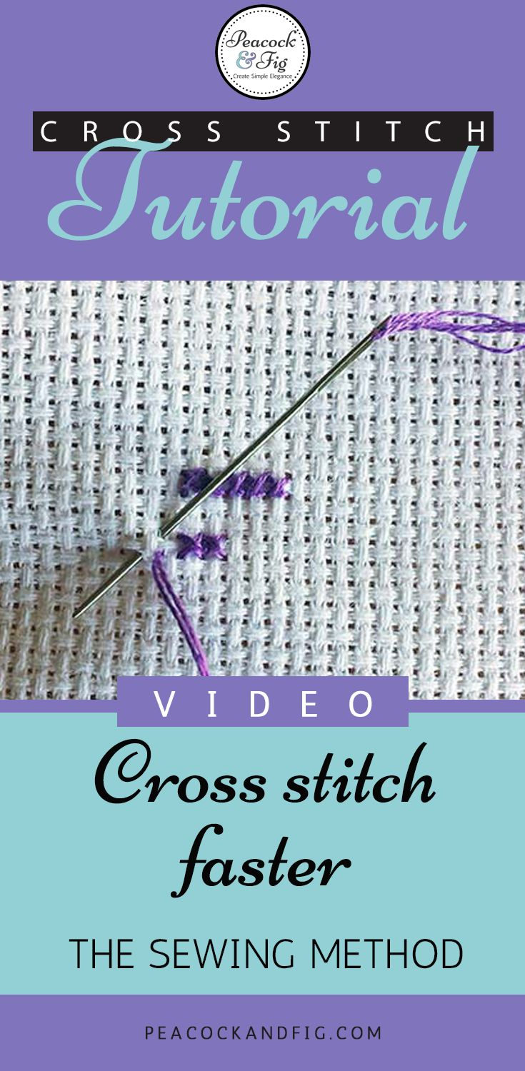 Cross stitch twice as fast: the sewing method