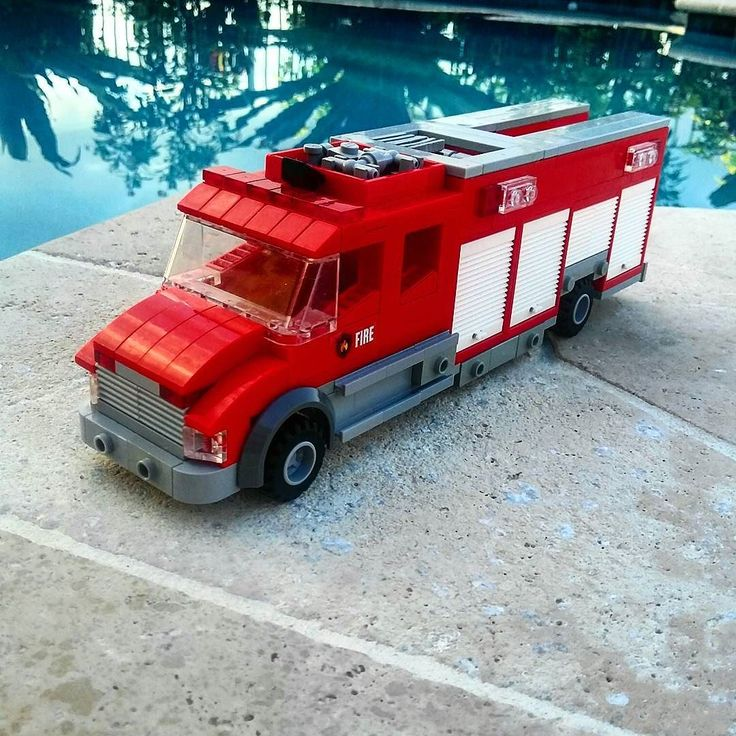 Special Operations 1 runs this 2016 Freightliner M2-106/EVI rescue #lego #legofire #freightliner #firefighting by hypoluxopalmsfire
