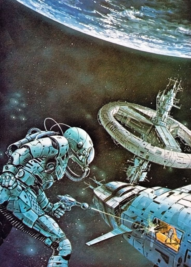 """martinlkennedy: """" Painting by Eddie Jones from the book The Space Warriors (1980) """""""