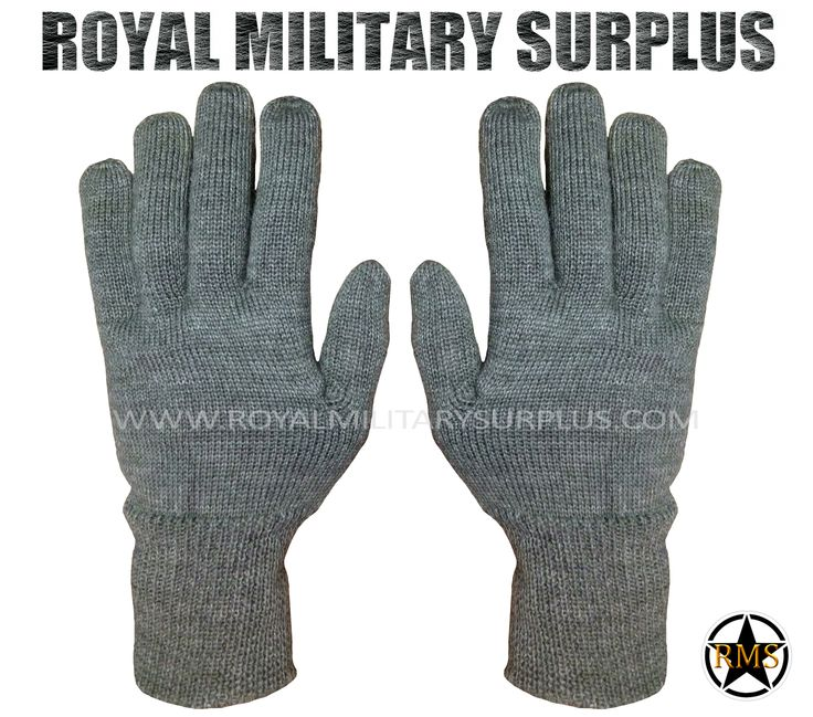 Wool Gloves - Germany Army Issue - GREY (Charcoal) - 10.95$ (CAD) - Tactical Germany Army Gloves Bundeswehr Issue Wool Gloves Original/Military Specifications Grey Charcoal Color 100% Military Wool Strong & Hard Wearing Perfect for Gloves & Mittens Liners ONE SIZE (Extensible) BRAND NEW http://www.royalmilitarysurplus.com/
