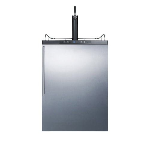 Summit SBC635MBISSHV Commercial Built-In Beer Kegerator Thin Handle - Stainless, Silver stainless steel
