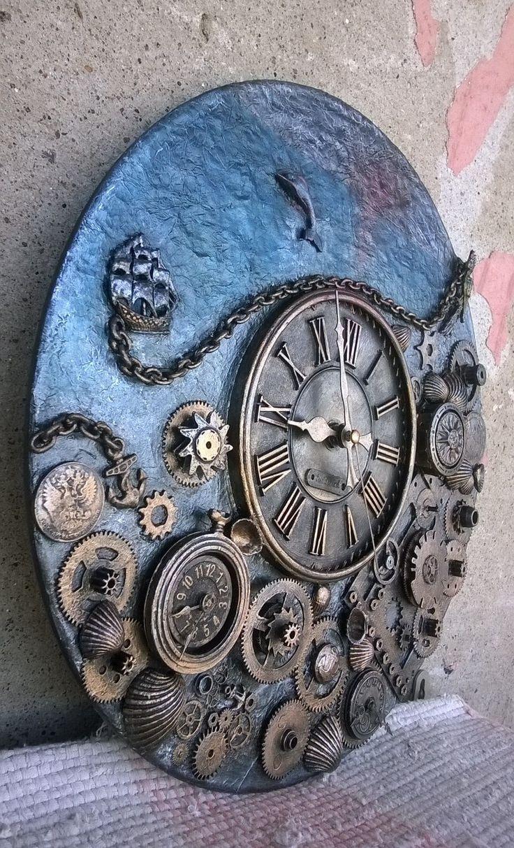 Часы стимпанк -море